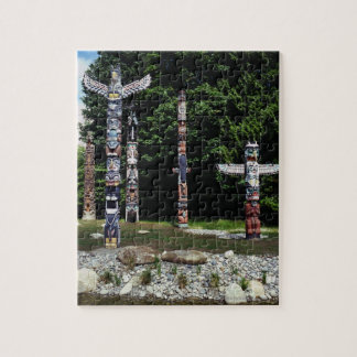 Totem poles, Vancouver, British Colombia Jigsaw Puzzle