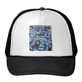 totem style faces mesh hats