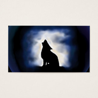 totem - wolf business card