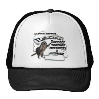 TOTEMS TOTEM RACCOON TEACHES DEXTERITY / DISGUISE TRUCKER HATS