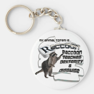 TOTEMS TOTEM RACCOON TEACHES DEXTERITY / DISGUISE KEY RING