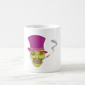 Totenkopf Schädel skull Hut Zylinder hat topper Kaffeetasse