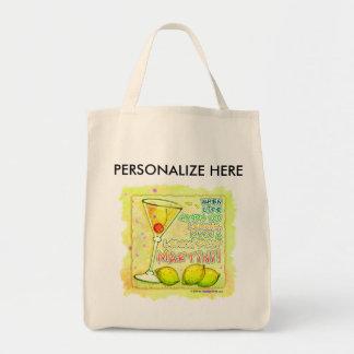 Totes, Grocery - Lemon Drop Martini Tote Bag