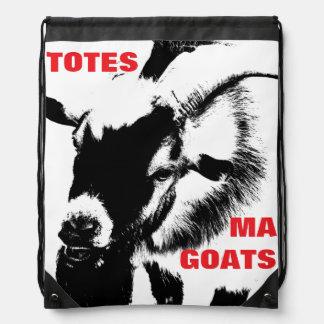 TOTES MA GOATS Drawstring Book Knapsack Drawstring Bags