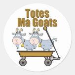 Totes Ma Goats Round Sticker