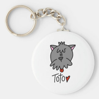 Toto Basic Round Button Key Ring