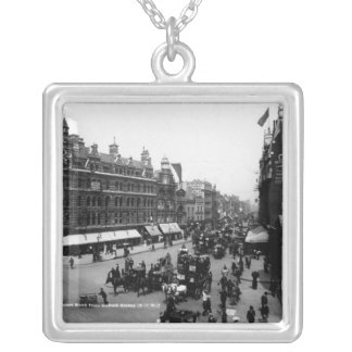Tottenham Court Road from Oxford Street, Silver Plated Necklace