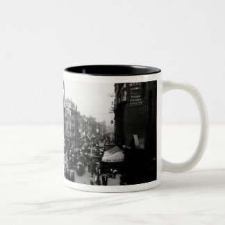 Tottenham Court Road from Oxford Street, Two-Tone Coffee Mug
