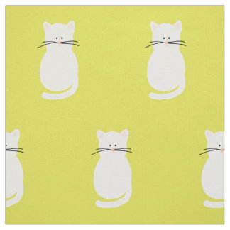 Totty The Cat. Cat fabric print.