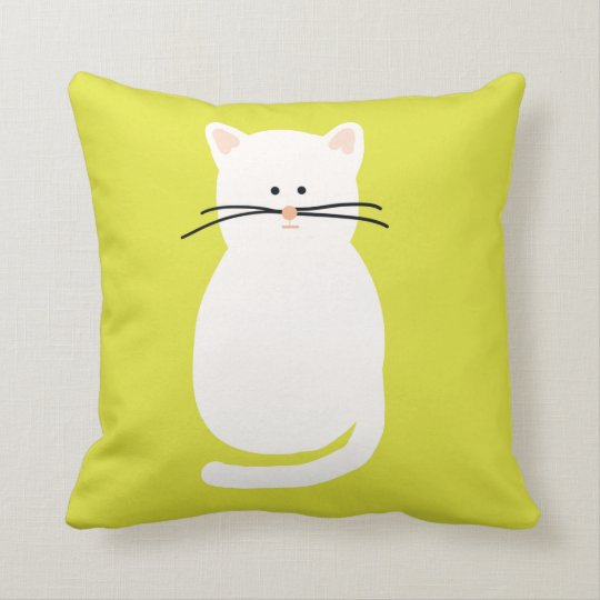 Totty The Cat. Cat print cushion. Throw Pillow