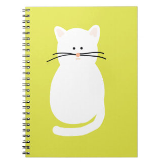 Totty The Cat. Colourful bright cat art Notebook