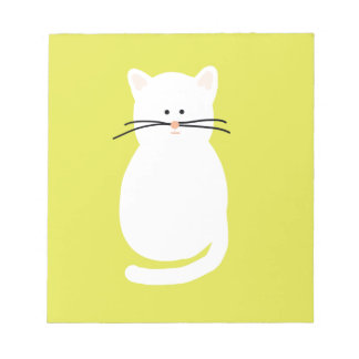Totty The Cat. Colourful bright cat art Notepad