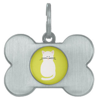 Totty The Cat. Colourful bright cat art Pet Name Tag
