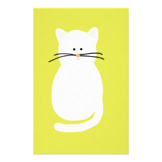 Totty The Cat. Colourful bright cat art Stationery