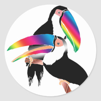 Tou Toucans Classic Round Sticker