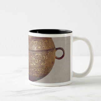 Tou' vessel with a serpentine decoration Two-Tone coffee mug