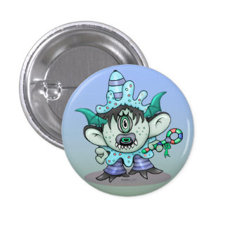 TOUBAKOU Small, 1¼ Inch Round Button MONSTER