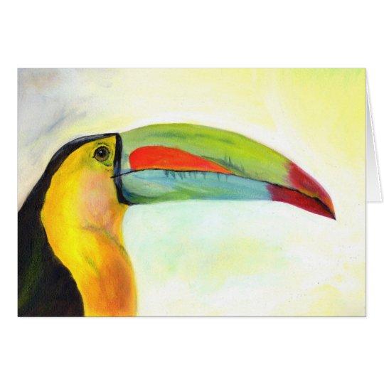 Toucan art card (a73)