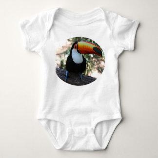 Toucan Baby Jersey Bodysuit, White Baby Bodysuit
