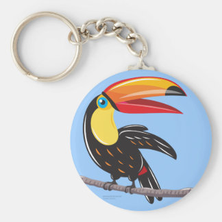 Toucan Basic Round Button Key Ring