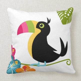 Toucan Bird Cartoon Illustration Cushion