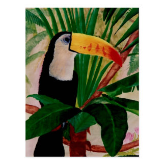 Toucan Bird Wildlife Art South America Postcard