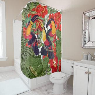 Toucan Birds Wildlife Animal Floral Shower Curtain