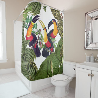 Toucan Birds Wildlife Animal Leaves Shower Curtain