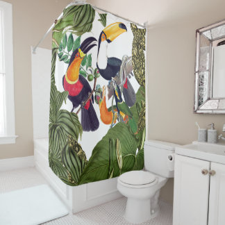 Toucan Birds Wildlife Animal Shower Curtain