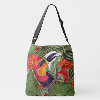 Toucan Birds Wildlife Animals Flowers Tote Bag