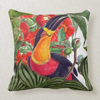 Toucan Birds Wildlife Flowers Animals Throw Pillow