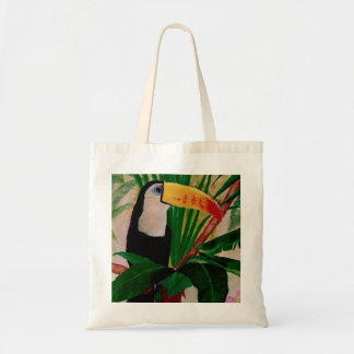 Toucan Exotic Jungle Bird Art Tote Shopping Bag
