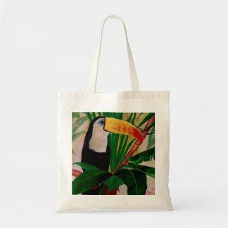Toucan Exotic Jungle Bird Art Tote Shopping Bag
