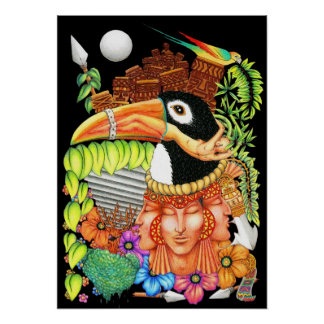 Toucan Fantasy Art Design Poster