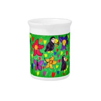 Toucan flower butterfly pitcher