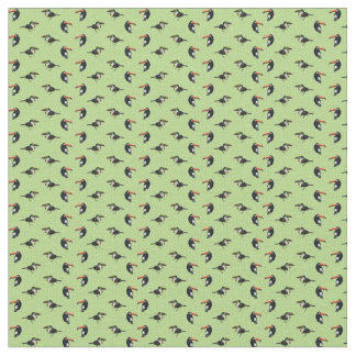 Toucan Frenzy Fabric (Light Green)
