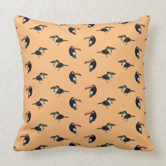 Toucan Frenzy Pillow (Orange)