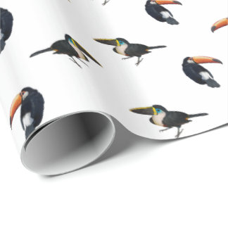 Toucan Frenzy Wrapping Paper (Choose Colour)
