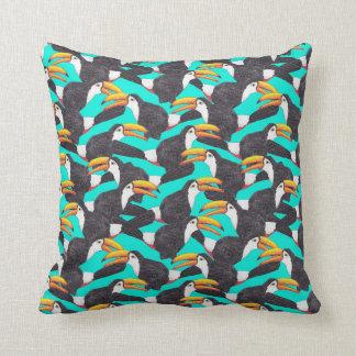 Toucan [green] throw pillow
