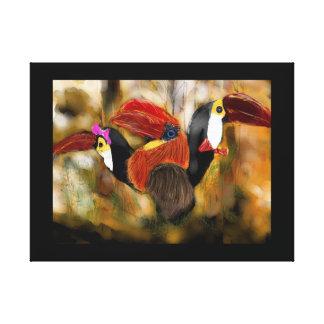 Toucan-Hornbill Family Portrait Canvas Print