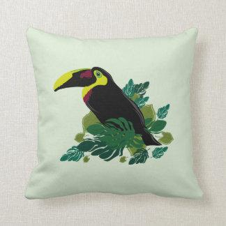 Toucan illustration cushion