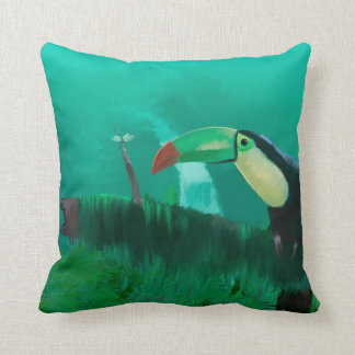 Toucan in the Rainforest Cushion