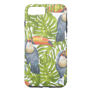 Toucan Jungle Bird Trees Pattern iPhone 8 Plus/7 Plus Case