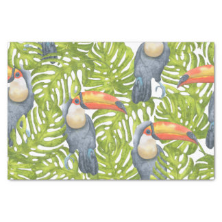 Toucan Jungle Bird Trees Pattern Tissue Paper