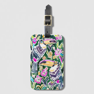 TOUCAN PARADISE Bold Bohemian Tropical Luggage Tag