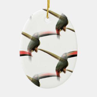 Toucan Pattern Christmas Ornament