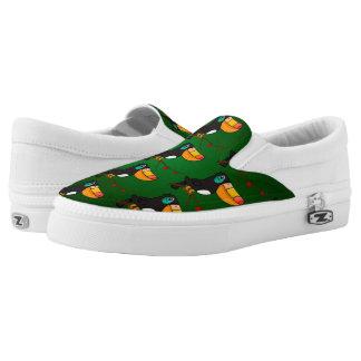Toucan Pattern Slip-On Shoes