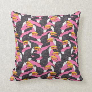 Toucan [pink] throw pillow