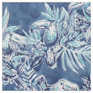 TOUCAN PLAN Indigo Tropical Fabric