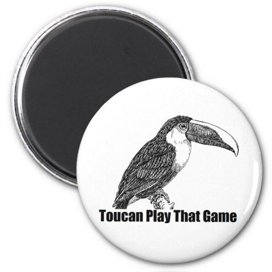 Toucan Play That Game 6 Cm Round Magnet